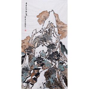 河南美协会员 常粟(意象秋林韵仙境)LL72