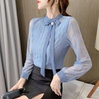 打底衫女长袖秋冬装新款蕾丝衫修身时尚潮流遮肚子上衣洋气小衫