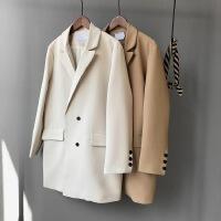 2018春秋新款长袖中长款宽松显瘦气质小西装外套女士休闲西服上衣