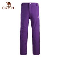camel骆驼 户外软壳裤 秋冬女款裤 锁暖抗静电女士软壳裤