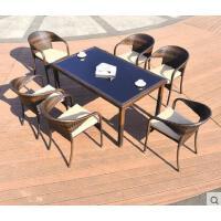 户外休闲新款桌椅藤椅茶几三五件套户外庭院阳台时尚简约室外休闲家具组合藤编椅子