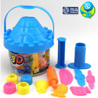 智高3D彩泥 24色城堡橡皮泥可当零钱罐~DD-5025