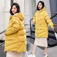 韩版中长款加厚保暖棉袄女孕妇棉衣孕后期宽松冬季外套