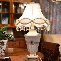 墨菲 欧式象牙瓷复古卧室客厅床头陶瓷台灯 电镀金灯饰灯具