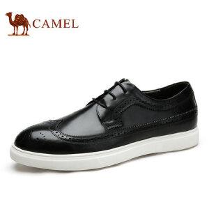 camel骆驼男鞋 秋季新品 洛克皮鞋男鞋英伦潮男板鞋时尚休闲鞋