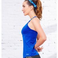 瑜伽服女加宽带胸垫跑步运动防震背心修身显瘦健身服女 支持礼品卡