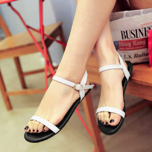 O'SHELL欧希尔新品057-1678E-1韩版平底鞋女士凉鞋