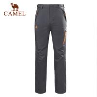 camel骆驼户外冲锋裤 新款女士防风耐磨徒步冲锋裤