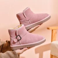 19珂卡芙冬季新款【真皮帮面】可爱舒适雪地靴保暖柔软女靴