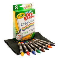 Crayola绘儿乐 98-5200 易擦可水洗8色白板大蜡笔(经典色) 当当自营