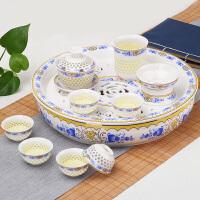 家用茶托盘小茶台蓄水简约简易创意陶瓷功夫茶具茶盘套装