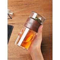 男女便携喝茶过滤旅行双层玻璃保温茶水分离泡茶杯子水杯