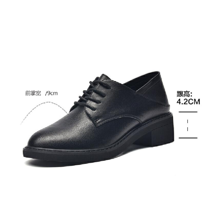 2019珂卡芙新款【职场简约】时尚简约通勤女鞋粗跟舒适女单鞋