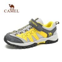 Camel骆驼 户外登山徒步鞋 秋冬新款低帮魔术贴减震儿童款徒步鞋户外鞋