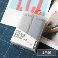 2条装简约品质内裤男平角中腰竹纤维棉健康透气青年短裤头9935 2条装