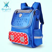 Ergofit爱高适 ER013蓝色 健康护脊小学生书包男EVA儿童书包 当当自营