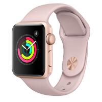 Apple Watch Series 3智能手表(GPS款 42毫米 金色铝金属表壳 粉砂色运动型表带 MQL22CH