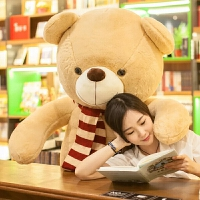 2018新款 毛绒玩具 大号泰迪熊1.6米公仔布娃娃1.8米生日礼物送女友玩具熊女 平躺量2米 纸箱包装