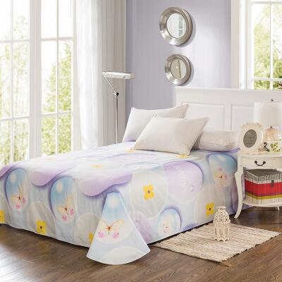 当当优品 纯棉斜纹床上用品 床单250*230cm 魔力圈圈当当自营 100%纯棉 不易褪色 0甲醛 透气防潮 大尺寸