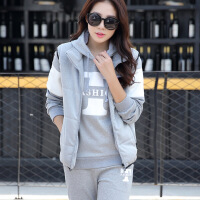 卫衣套装男冬季加绒加厚2018新款韩版潮流情侣运动衣服外套三件套150945142