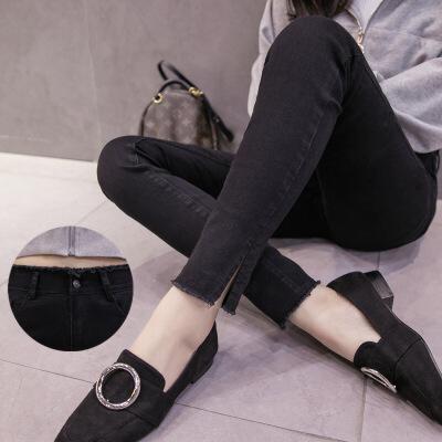 灰色牛仔裤女2017秋冬新款不加绒长裤韩版高腰学生小脚裤女土裤子 发货周期:一般在付款后2-90天左右发货,具体发货时间请以与客服协商的时间为准