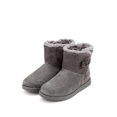 【159元任选2双】迪士尼Disney童鞋女童冬季加绒保暖靴子  S73562 S73539 【开学季:限时159元2双】