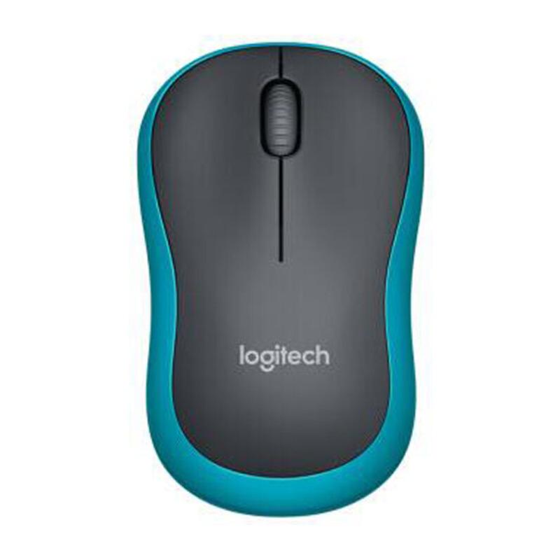 罗技(Logitech)M185 蓝色 无线鼠标  接收器在鼠标的电池仓里面 节电设计鼠标底部的灯不亮的, 【全国大部分地区包邮哦】