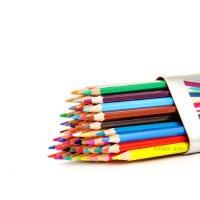 秘密花园 魔法森林 奇幻梦境填色笔 高尔乐KUELOX 48色水溶彩色铅笔三角金属桶装水溶铅笔 筒装彩铅