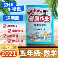 2021黄冈小状元暑假作业五年级数学通用版小学5年级暑假作业本可搭配教材使用假期作业