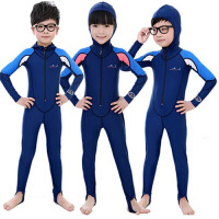 包邮 儿童连体潜水衣 潜水服 防晒水母衣 长泳衣
