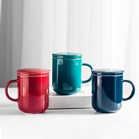 多功能�R克杯���w�^�V茶杯茶水分�x泡茶杯陶瓷杯子