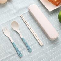 竹纤维儿童勺子筷子叉子套装婴儿宝宝学习练习幼儿餐具