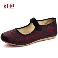 老北京布鞋女平底老人鞋中老年妈妈鞋大码软底春秋老奶奶小码单鞋