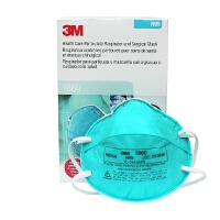 3M口罩 防细菌口罩1860 成人款N95 防雾霾 20只/盒 防PM2.5 医院医生*