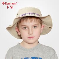 亲子帽子 儿童春夏大中童男童遮阳帽 母子旅游帽 父子防晒渔夫帽 均码54cm 4860