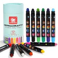 特宝儿 JORMA丝滑蜡笔 12支装 儿童绘画工具 易擦除蜡笔套装儿童玩具