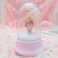 天使夜灯八音盒情侣水晶球麋鹿音乐盒生日礼物家居摆件送闺蜜女友教师创意礼品