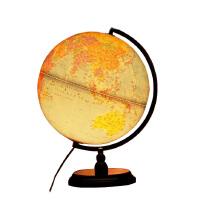 地球仪诚志 带LED灯光32cm高清政区五合一标准教学地球仪 木底座