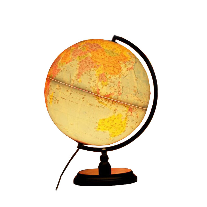 地球仪诚志 带LED灯光32cm高清政区五合一标准教学地球仪 木底座 全场满50元包邮,新疆西藏除外
