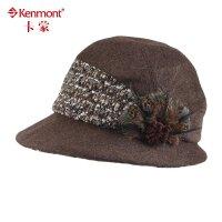 卡蒙帽子 毛呢帽子 优雅盆帽 女士英伦呢子小礼帽2353