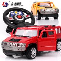 遥控越野车生日礼物悍马车遥控汽车 儿童玩具车男孩充电动可开门