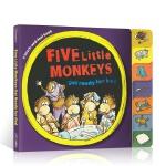 【顺丰速运】英文原版 Five Little Monkeys get ready for bed 五只猴子准备睡觉 亲