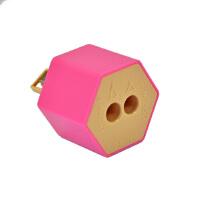 旗牌(Shachihata)ZKC-W2/H创意环保型 瓶盖式双孔卷笔刀削笔器 粉色当当自营