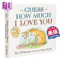 【中商原版】猜猜我有多爱你 英文原版 Guess How Much I Love You 低幼纸板书 软封纸板书 廖彩