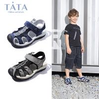 【3折价:161.4元】他她童鞋休闲凉鞋2020夏季新款男童凉鞋儿童软底包头沙滩鞋子