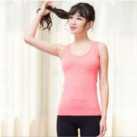 瑜伽运动背心文胸女跑步健身工字塑身弹力背心上衣夏透气速干排汗