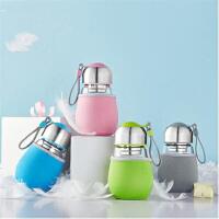 【支持礼品卡】便携玻璃水杯企鹅杯大肚子杯创意过滤情侣学生茶杯(限购两件)