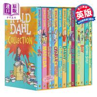 【中商原版】Roald Dahl 罗尔德达尔 英文原版小说 全集16册套装 玛蒂尔达 女巫好心眼儿 圆梦巨人 了不起的