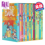 【中商原版】罗尔德达尔英文原版全集15册套装Roald Dahl玛蒂尔达 女巫好心眼儿圆梦巨人了不起的狐狸爸爸查理和巧