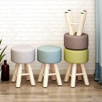 老睢坊 网红凳子家用卧室小沙发现代简约懒人可爱卧室实木梳妆台化妆椅子